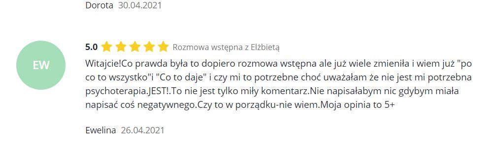 Psycholog Elżbieta Kalinowska - opinia